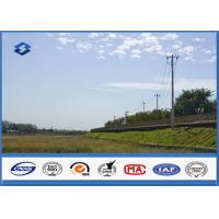 China 低電圧の熱いすくいの亜鉛めっきを用いる単一のCircultの電気鋼鉄電柱 on sale