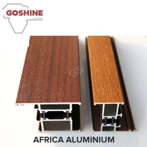 China Wood Grain / Wood Finish Aluminium Profiles Home Furniture Accessories on sale