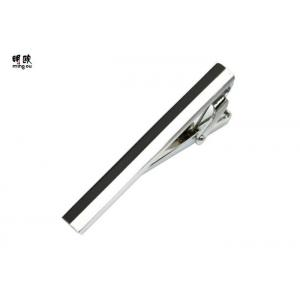 China Lightweight Custom Engraved Tie Bar , 1 Inch Suit Tie Clip Wedding Use on sale