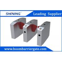 Waist Height Flap Barrier Gate , Turnstile Access Control With Bar Code Scanner