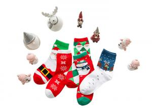 China Christmas Decoration Cotton Winter Socks 75% Cotton And 25% Spandex Material on sale