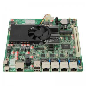 China Fanless 4 Ethernet Ports Mini ITX Atom Motherboard D2550 With 2 SATA / PCI on sale