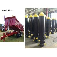 Welded Dump Truck Tipper Trailer Single Acting Telescopic Hydraulic Cylinders CE Marked