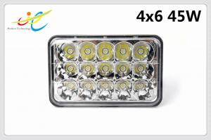 China DCV12V 24V sealed beam rectangle waterproof IP68 4x6 45W truck headlight LED work light with Hight Low Spot beam on sale