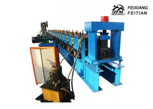 China Easy Install Storage Rack Roll Forming Machine, Cable Tray Production Line With Punch on sale
