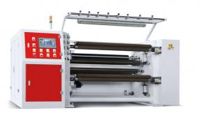 China PLC Control High Speed Slitting Machines , Paper Roll Slitting Machine 1300mm Jumbo Roll Width on sale