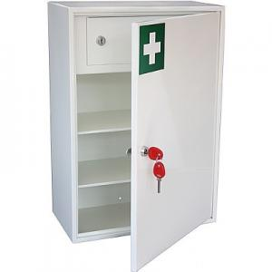 China Empty Metal First Aid Cabinet , Medical Storage Cabinet With Drawer on sale