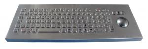 China Compact Format Long Stroke vandal proof ruggedized industrial keyboard with trackball on sale