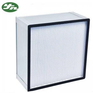 China Customized Deep Pleated HEPA Filter Aluminum Frame For Food Industry on sale