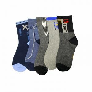 China Cheap durable quality custom logo knitted cotton sports socks on sale
