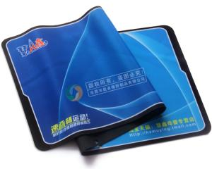 China For eco friendly gifts custom rubber table printing mat for promotional products on sale