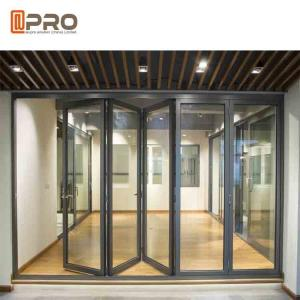 China Powder Coated Aluminum Folding Doors For Commercial Buildings Customized Size on sale