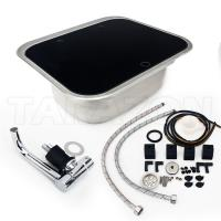 Practical RV Kitchen Sink Single Bowl RV Stainless Steel Sink With Toughened Glass Cover