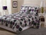 Square Patchwork Quilt Bedding Set