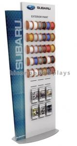 China Car Accessories Retail Store Slatwall Display Stands Double Sided With Custom Logo on sale