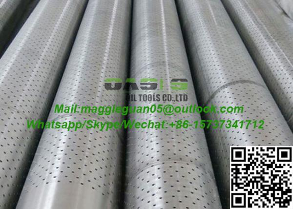API K55 Steel Round Hole Perforated Screen Pipe Used In