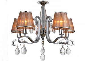 China Hotel Zinc Alloy Retro Luxury Crystal Chandelier / Modern Chandeliers with Shades on sale