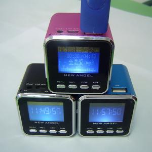 China Big digital screen show song's lyric new music angel mini single speaker on sale
