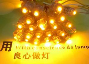 China 50pcs Yellow 9mm LED pixel Module DC5V Waterproof  Led Light Christmas Light on sale