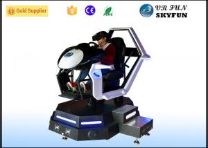 China Racing Car Game Virtual Reality Motion Simulator With Steering Wheel on sale