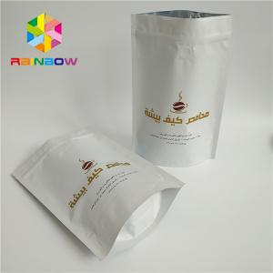 China Good Grade Custom Printed Stand Up Pouches Valve Hot Stamping Printing Skill SGS Approval on sale