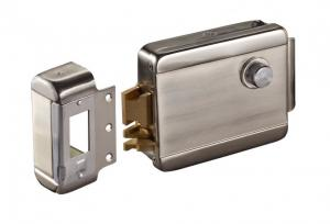 China Stainless Steel Case  Electric Rim Door Lock Single End Electric Control Rim Lock on sale