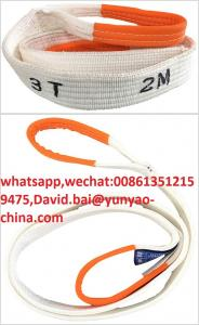 China trong Tensile Strength 3Ton 5Ton Lifting Endless High Tenacity Polyester Webbing Sling Belt on sale