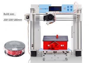 China Desk Top Industrial 3D Printer Heated Bed White Single Extruder Metal Plate on sale