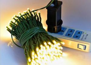 China White / Blue 200 LED Christmas Lights on sale