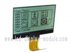 China 128x64 Monochrome LCD Display Module FSTN positive reflective FPC connection on sale