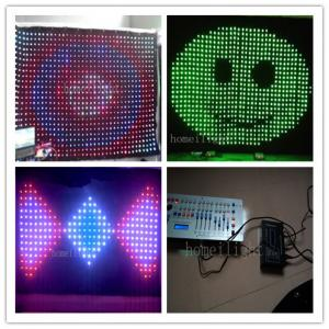 China Multi Colored P15 Foldable DMX Control RGB LED Vision Curtain , Concert LED Video Cloth on sale