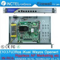 1037U multi gigabit network port routing 1U high end Firewall Server with Intel PCI E 1000M 6 82583V