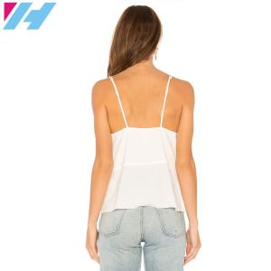 China 2018 New Fashion V-neck Blouse Chiffon Cami Tank Top for Womens on sale