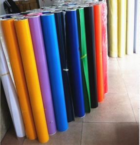 China high quality color vinyl roll/self adhesive vinyl rolls/self adhesive vinyl film on sale