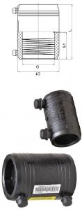 China DN315 Polyethylene Electrofusion Coupler For Water Pipe on sale