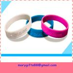 fashion round debossed silicone rubber bangles