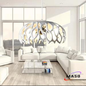 China Home Decorative Branch Resin Pendant Lamp Three Lamp Holders Clear CE Approved Wire on sale