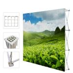 Portable Trade Show Backdrop Stand Various Shapes Detachable Frame 250g Fabric