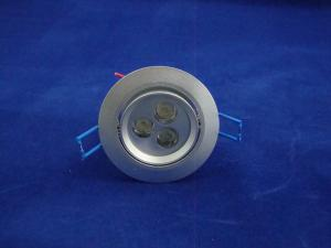 China cheap Hi power 3*1W LED Recessed Ceiling Lights Fixtures AC 100 - 240V/¢135 x H99 mm on sale