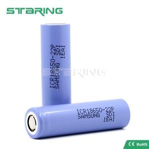 China Mod batteries ICR18650-22P 2200mAh 3.7v Samsung 18650 22P rechargable battery on sale