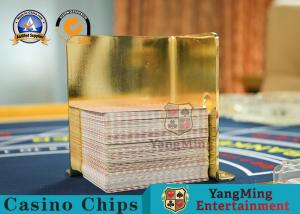 China Durable Casino Game Accessories Yellow Poker Metal Playing Card 100*65*120mm on sale