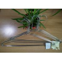 China Silver Galvanized Wire Hangers / Wire Shirt Hangers High Temperature Resistance on sale