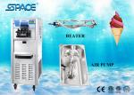 Full Stainless Steel Commercial Ice Cream Machine With LCD Display Screen