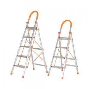 China Reinforced Light weight Aluminium Folding step Ladder for house work on sale