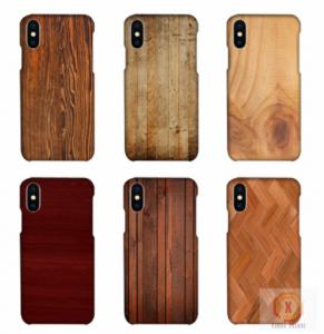 China Customized Wood Printed Cell Phone Covers For IPhone X , 3D Sublimation Blank Phone Case on sale