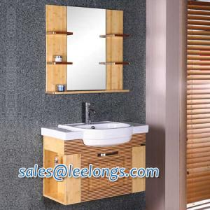 China Leelongs Sanitary Ware Factory on Eco Friendly Bamboo Bathroom Vanity Cabinet from China on sale