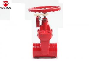 China Groove Non - Rising Stem Gate Valve Fire Fighting Equipment Nodular Cast Iron on sale