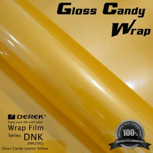 China Gloss Candy Lemon Yellow Vinyl Wrap Film - Gloss Lemon Yellow on sale