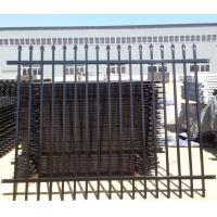 2.1mx2.4m Australia Black Heavy Duty Welded Security Garrison Steel Picket Fencing/Garrison Fence Panel