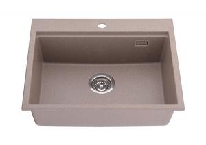 China Drop-in Single Bowl Composite Granite Residential Kitchen Sink on sale